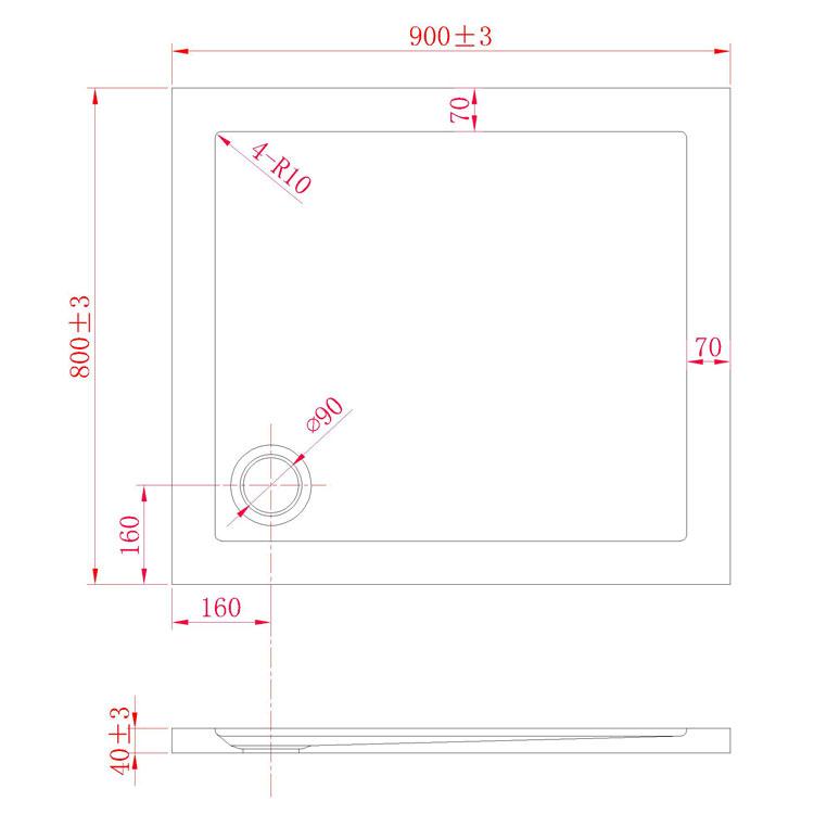 receveur plateau bac douche 80x90 cm blanc acrylique rectangle angle angulaire ebay. Black Bedroom Furniture Sets. Home Design Ideas