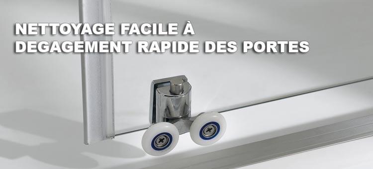 Cabine de douche 3 c t s 70x70x70 cm verre transparent ouverture coulissant - Cabine de douche 3 cotes vitres ...