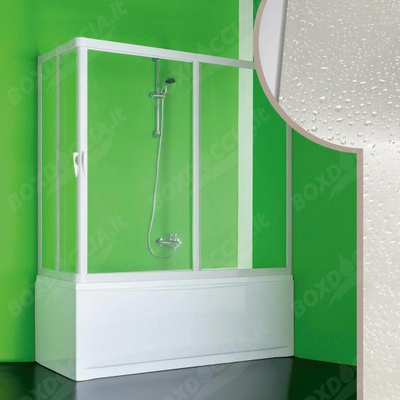 Box doccia sopravasca in Acrilico mod. Nettuno con apertura centrale