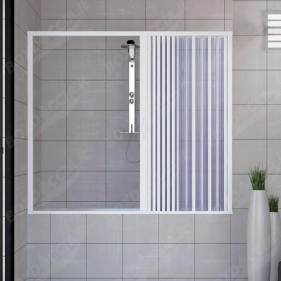 Porta doccia sopravasca 160 CM in PVC mod. Nina con apertura laterale