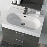 Piano lavabo acrilico bianco 60cm Roma 1