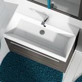 Piano lavabo acrilico bianco 90 cm Lisbona 2