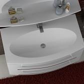 Piano lavabo in marmo artificiale 92cm White 3