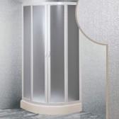 Box doccia Semicircolare in Acrilico mod. Smart con apertura scorrevole