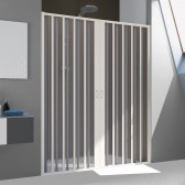 Porta Doccia in PVC mod. Flex 2 Ante con Apertura Centrale