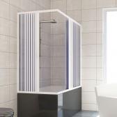 Box doccia sopravasca in PVC mod. Nadia con apertura centrale