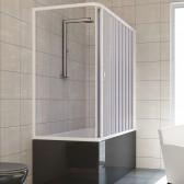 Box doccia sopravasca in PVC mod. Nadia con apertura laterale