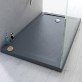 Piatto Doccia 80x140x4 cm Rettangolare Acrilico mod. Stone UltraSlim