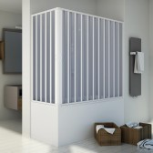 Box doccia sopravasca in PVC mod. Santorini con apertura centrale