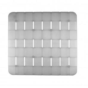 Pedana rigida doccia bianca trasparente quadrata 55x55 CM
