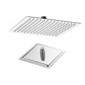 Soffione Doccia Thin Line Quadrato in Acciaio Inox 25x25 cm