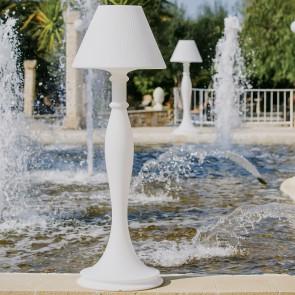 Lampada da terra in resina Eva 180 cm con lampada a risparmio energetico
