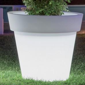 Vaso Gemma con illuminazione in resina diametro 80 cm