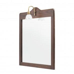 Specchio 70x60 con Applique bordo legno mod. Mathilde