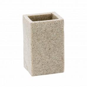 Porta Spazzolini Da Appoggio col. sabbia in poliresina mod. Syl
